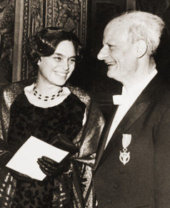 photograph of Hans Bethe and wife Rose